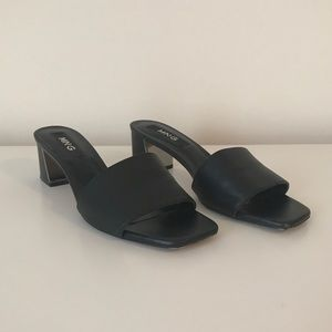 Mango Black Heeled Sandals